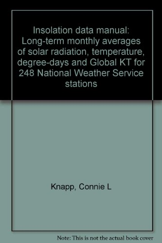 National Station Weather (Insolation data manual: Long-term monthly averages of solar radiation, temperature, degree-days and Global KT for 248 National Weather Service stations)