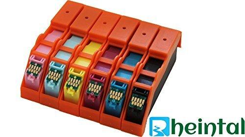 Rheintal - 14 Ersatz Chip Patronen kompatibel zu Epson 24XL, T2431, T2432, T2433, T2434, T2435, T2436, T2438