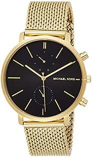 ساعة مايكل كورس جارين سوداء للرجال بسوار من الستانلس ستيل - MK8503