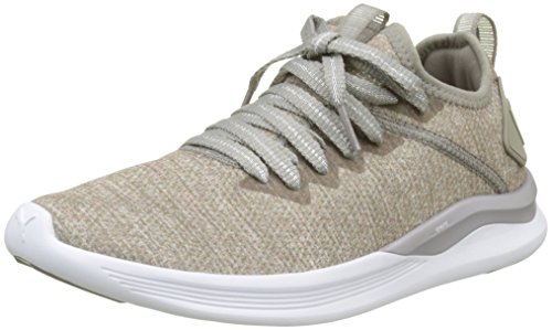 Puma Ignite Flash Evoknit EP Wn's, Zapatillas de Cross para Mujer, Gris (Rock Ridge-Metallic Beige), 39 EU