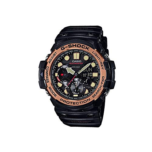 Men's Casio G-Shock Master of G GULFMASTER Black and Rose Gold-Tone Watch GN1000RG-1A