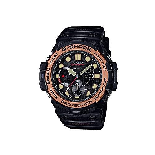 Los Hombres de la Casio G-Shock Master de G GULFMASTER Negro y Rose Gold-Tone Reloj gn1000rg-1a