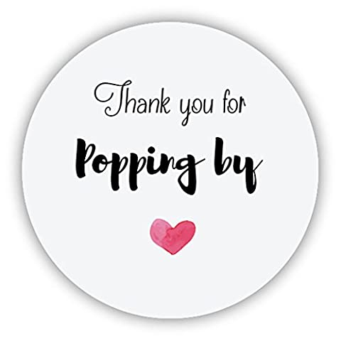 eKunSTreet ® 48x 'Thank you for Popping by' Wedding Favour