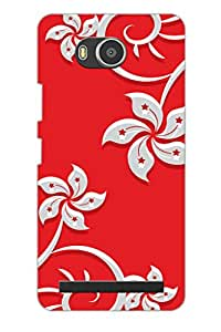 AMAN Red & Flowers 3D Back Cover for Lenovo A7700
