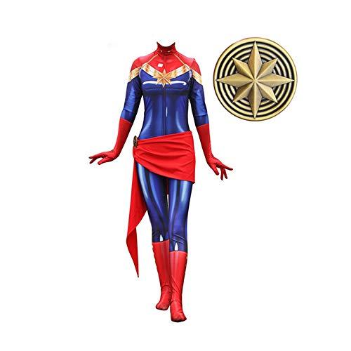 Unisex Captain Marvel Halloween Quantum Shirt Cosplay Kostüme Erwachsene / Kinder 3D Style