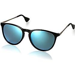 Aroncent Unisex Retro Sonnenbrille Metallrahmen Fliegerbrille Polarisierte Sonnenbrille Verspiegelt Pilotenbrille UV400 Schutzbrille für Damen und Herren, Blau