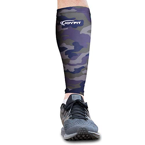 JoyFit - Calf Compression Sleeve- Leg Compression Socks, for Pain Relief, Muscle Swelling, Basketball, Football, Badminton, Running, Gym Exercise, Cycling (Single) (Small)