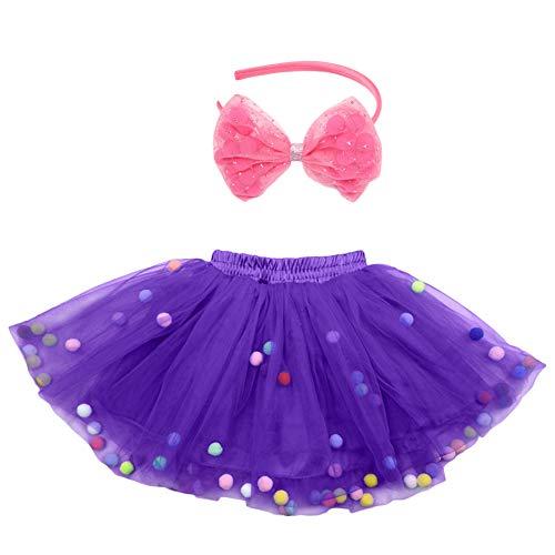 Kostüm Jahreszeiten Mädchen Vier - Tütü für Kinder Party Geburtstag lila Prinzessin Tutu Tanzröcke Rock Fee Kostüm für Mädchen Alter 4-8 Jahre (Lila)