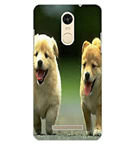 XIAOMI REDMINOTE 3 PUPPIES Back Cover by PRINTSWAG