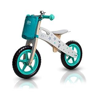 41c 5VbhjbL. SS300 Kinderkraft - Bicicletta senza pedali Runner, in legno, per bambini, con maniglia, borsa per piccoli oggetti e…