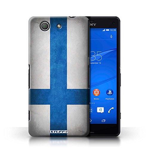 Coque en plastique pour Sony Xperia Z3 Compact Collection Drapeau - Amérique/americain Finlande/finlandais
