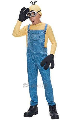 Minion Kostüm, Kids KEVIN Outfit, mittel, Alter 5-7, Höhe 4'5,1cm-4' 15,2cm