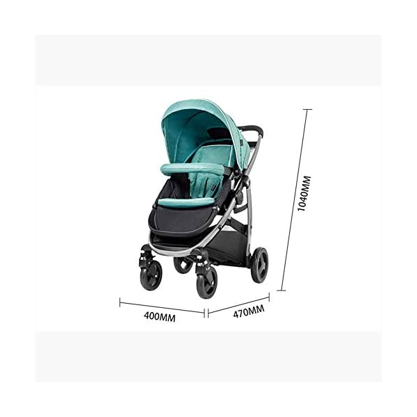 XUE Baby Stroller, Spacious High Landscape Trolley Shock Absorber Can Sit Reclining With Basket Travel System With Embrace XUE ∵ Wipeable and washable design for easier cleaning. ∵ Convertible high chair becomes booster and toddler seat. ∵ Keeps little ones secure with 3-point and 5-point harnesses. 6
