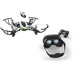 Parrot Mambo FPV - Dron cuadricóptero (HD 720P, 30 Km/h, 10 minutos de vuelo, 100 metros de alcance) + Mando Flypad + Gafas Cockpitglasses 2
