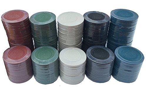 150fichas de ruleta y póker de casino–en 5colores