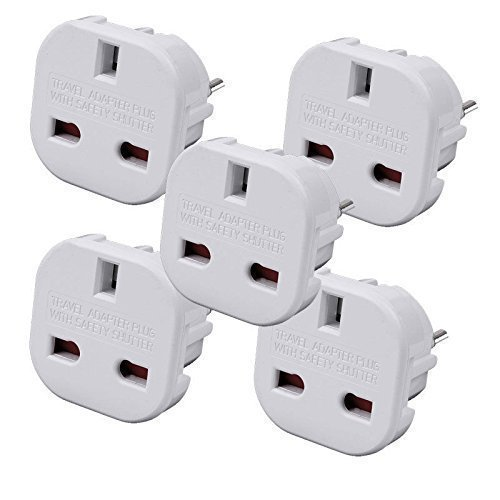 Price comparison product image TB1 Products 5 x EU TRAV Travel Adapter