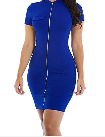 Bling-Bling Funky Zip or Not Dress(Blue,S)