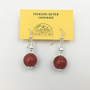 Ohrringe aus Silber und Apfel Koralle