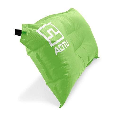 Sruma - bewegliche automatischen Schnell aufblasbare Kissen Outdoor-Camping-Zelt-Luftkissen Nacken Camping Schlafen Gang Green
