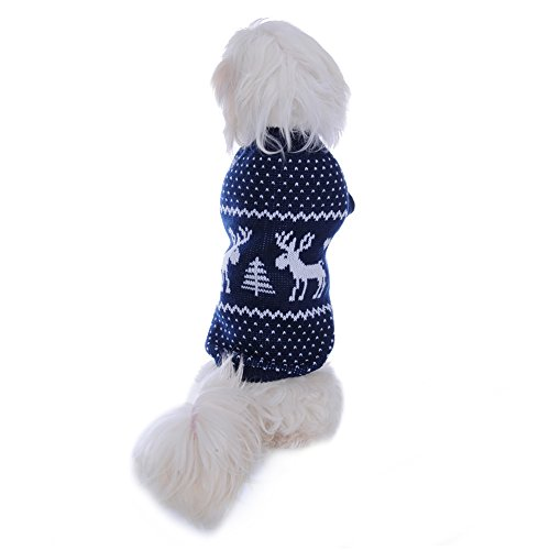molie Haustier Hund Weihnachten Pullover Bekleidung (L, Blue) - 6