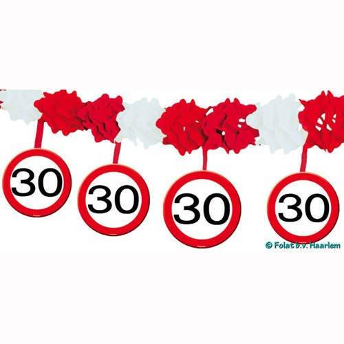 nde Party-Deko schwarz-rot-weiss 400x20cm Einheitsgröße (30. Geburtstag-dekorationen In Schwarz Und Weiß)