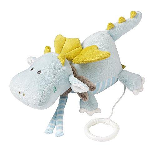Fehn 065039 Spieluhr Drache / Aufzieh-Spieluhr mit herausnehmbarem Spielwerk zum Aufhängen, Kuscheln und Greifen, für Babys und Kleinkinder ab 0+ Monaten