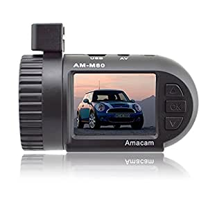 Amacam AM-M80 1.5-Inch Screen Miniature HD Dash Cam Car Video Recorder Supports up to 32GB Memory Cards