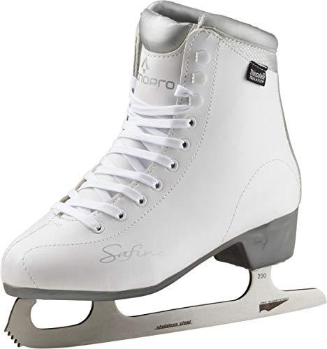 Tecnopro Damen Eiskunstlauf-Schuh Marina 1.0 Schlittschuhe, weiß/Silber, 39