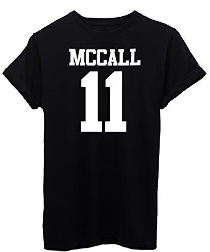 iMage T-Shirt McCall 11 Teen Wolf - Tv-Serie Damen-S - Schwarz (Teen Wolf T-shirts)