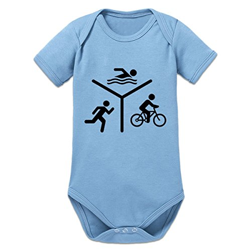 Shirtcity Triathlon Silhouette Logo Baby Strampler by