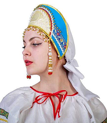 Kostüm Traditionellen Russland - russouvenir Kokoschnik russischer Kopfschmuck Kopfputz Haube Fürstlicher