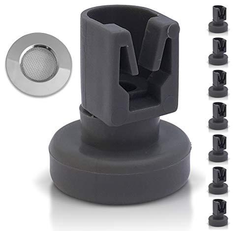Geschirrspüler Oberkorb-Rollen: 8 Stück Korbrollen für die Spülmaschine - Ersatzteile geeignet für AEG, Privileg, Zanussi, Juno, Electrolux, Ikea etc.