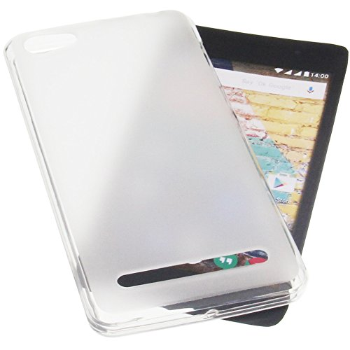 foto-kontor Tasche für Archos 45b Neon Gummi TPU Schutz Handytasche transparent weiß