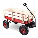 Homgrace Bollerwagen Gartenwagen Gartenkarre Handwagen Transportwagen Transportkarre für Garten, Wasserdichtes Oxford-Tuch, Maximale Belastbarkeit bis 150kg