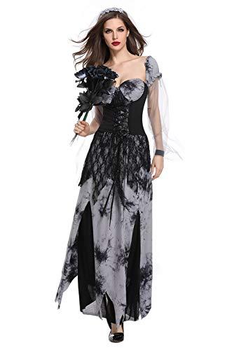 Tollstore Geister Braut Kostüm Zombie Braut Vampir kostüm Halloween Fasching Kostüm Damen XL