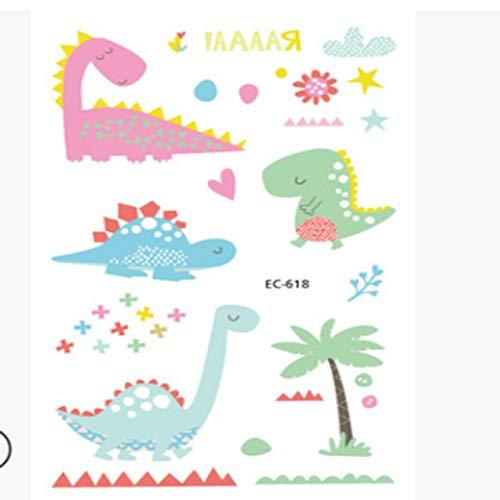 Temporary Tattoo Sticker, Children Cartoon Dinosa Waterproof Temporary Tattoo Stickers For Kids Portable Body Art Universal Beauty Decal