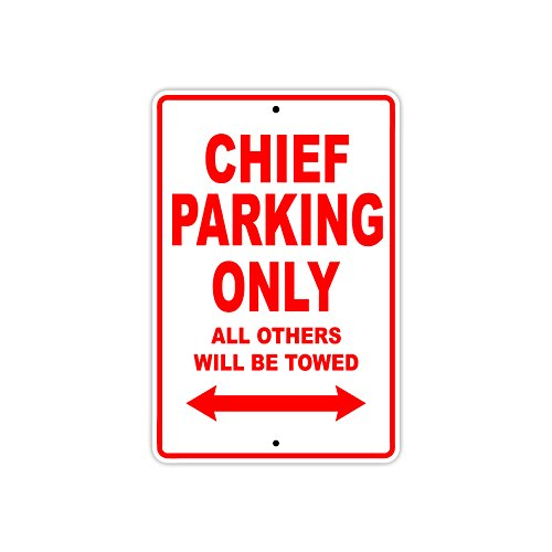 Indian Chef Parking Only All Other Will Be Towed Motorrad-Schild aus Aluminium 12