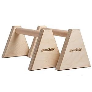 Gimme Kraft! Parallettes Minibarren Handstand Barren Holz Griff Liegestützgriffe Push-up Bars Calisthenics und Turnen