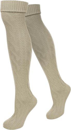 normani Trachtenkniestrümpfe Kniebundhosen Strümpfe auch in Übergröße Farbe Naturmelange Größe 43/46