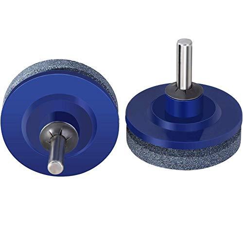 Wetour 1/2/4 Pcs Lawn Mower Blade Drill Kit, Lawnmower Sharpener for Power Drill Hand Drill (Garten-tool-sharpening Kit)