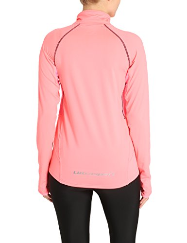 Ultrasport Damen Funktions Langarm-Lauf- Sportshirt, Midlayer Salia Pink
