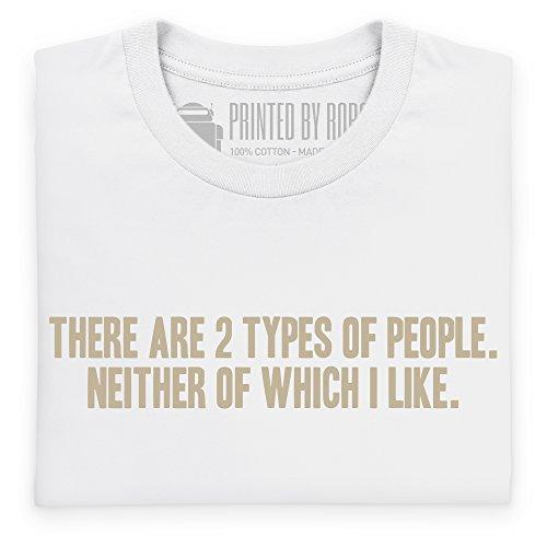 Two Types of People T-Shirt, Herren Wei