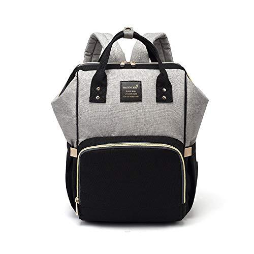 LFGCL Taschen womenMummy Tasche Multifunktionsgroße Kapazität Muttertasche Mutter- und Babytasche Flasche Umhängetasche Windelrucksack, Black Ash