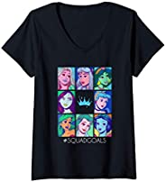 Femme Disney Princess Comic Book Artwork #SquadGoals T-Shirt avec Col en V