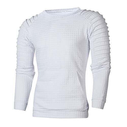 JYJM 2019 Herren Herbst Winter Langarm Plaid Sweatshirt Pullover Top Tee Bluse Herren Daunenjacke...