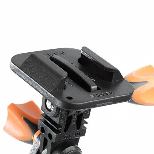 iSHOXS Flat Load Adapter 2er Set - Einfache Nachrüstung des Schnellspananschlusses passend für GoPro kompatible Halterungen
