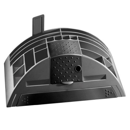 Herlitz 1601350 Big Butler V Schreibtischbox (Kunststoff mit Klebefilm/abroller, Anspitzer, Zettelhalter) 1 Stück anthrazit - 2