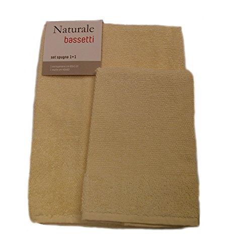 Bassetti Naturale Asciugamano, 100% Cotone, Beige, 60x110x0.4 cm