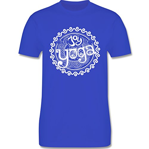 Wellness, Yoga & Co. - The joy of yoga - Herren Premium T-Shirt Royalblau