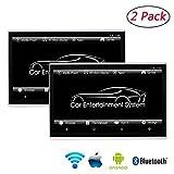 2er Pack Auto Kopfstützen Monitor Unterhaltungssystem, 11,6 Zoll IPS 1080P Touchscreen Auto Rücksitz Video Player, Unterstützung für Bluetooth, HDMI und WLAN Verbindung, für iPhone und Android
